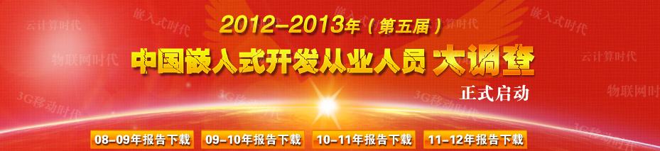2012-2013年中国嵌入式开发从业人员大调查